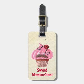 Magdalena y bigotes dulces etiquetas para equipaje