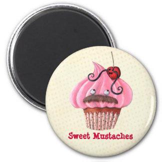 Magdalena y bigotes dulces imán redondo 5 cm
