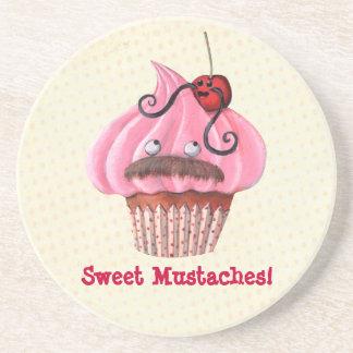 Magdalena y bigotes dulces posavasos diseño