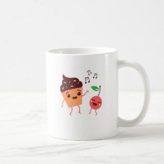 Magdalena y cereza musicales taza de café