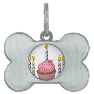 magdalena y velas placa mascota