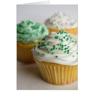 Magdalenas blancas y verdes tarjeta de felicitación