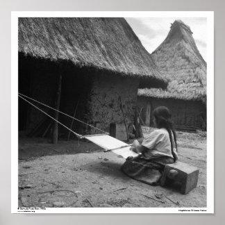 ~ Magdalenas, Chiapas, México del tejedor Póster