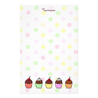 Magdalenas coloridas papelería de diseño