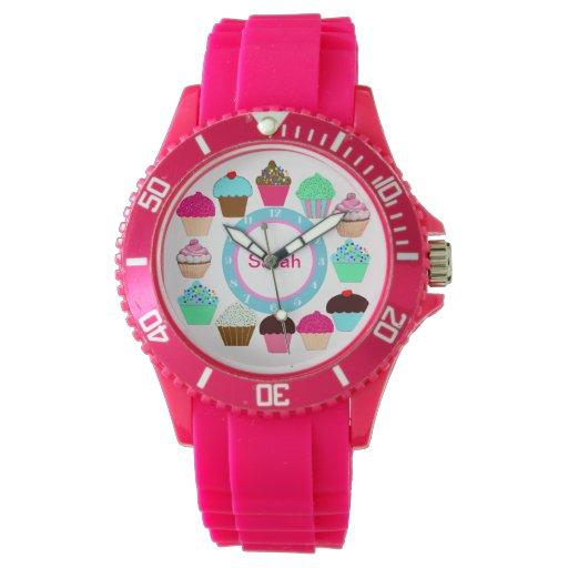 Magdalenas coloridas - personalizadas relojes de pulsera