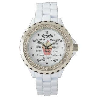 Magdalenas de la familia de la mamá relojes de mano