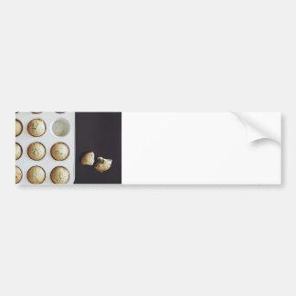 Magdalenas de la hornada - impresión dulce de la pegatina para auto