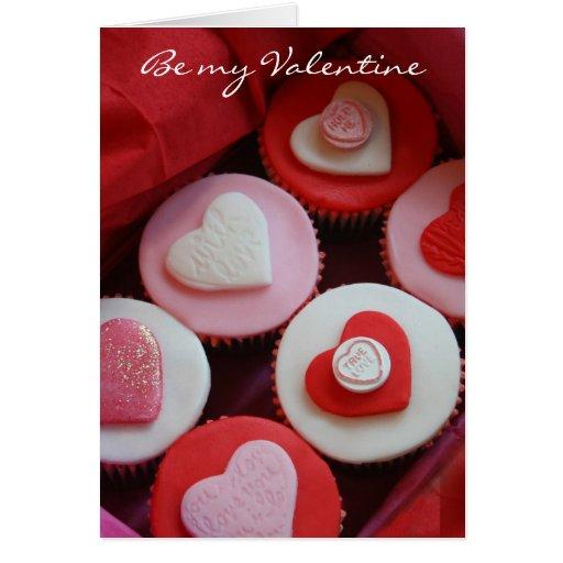 Magdalenas de la tarjeta del día de San Valentín