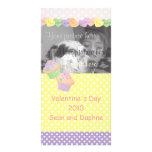 Magdalenas de los corazones del caramelo tarjetas fotográficas personalizadas