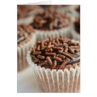 ¡Magdalenas del chocolate! Tarjeta De Felicitación