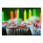 Magdalenas del cumpleaños tarjeta