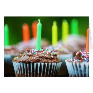Magdalenas del cumpleaños tarjeta pequeña