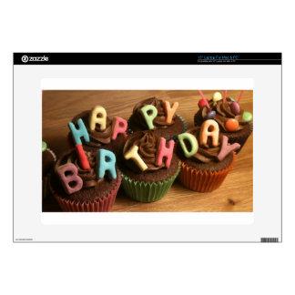 Magdalenas del feliz cumpleaños calcomanía para portátil