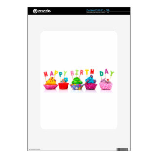 Magdalenas del feliz cumpleaños iPad skins