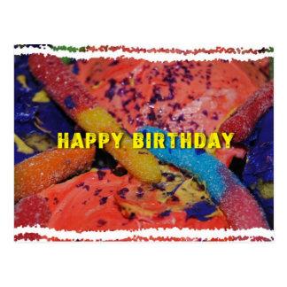 Magdalenas del feliz cumpleaños y postal gomosa de