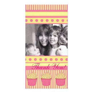 Magdalenas en colores pastel rosadas tarjetas personales