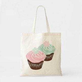 Magdalenas heladas pastel lindo bolsa de mano