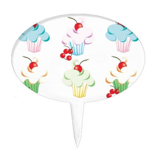 Magdalenas lindas en colores pastel decoración para tarta
