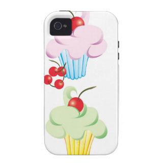 Magdalenas lindas en colores pastel Case-Mate iPhone 4 carcasas