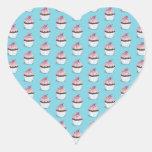Magdalenas lindas en fondo azul pegatina corazón