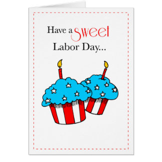 Magdalenas patrióticas del Día del Trabajo Tarjeta De Felicitación