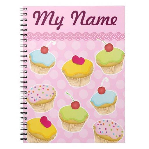 Magdalenas personalizadas cuaderno
