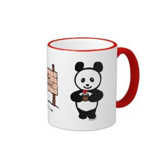 Magdalenas personalizadas de la panda de Kawaii Taza De Café