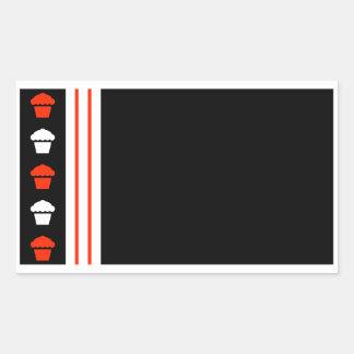 magdalenas retras pegatina rectangular