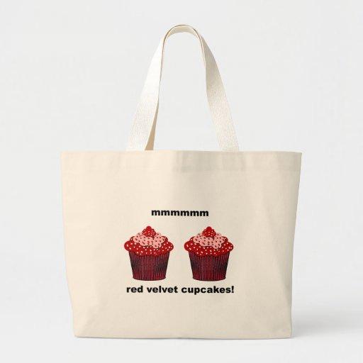 magdalenas rojas del terciopelo bolsa tela grande