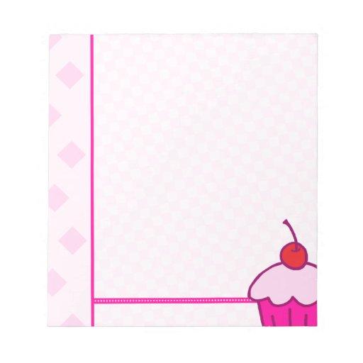 Magdalenas rosadas bloc de notas