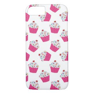 Magdalenas rosadas felices del corazón - modelo funda iPhone 7