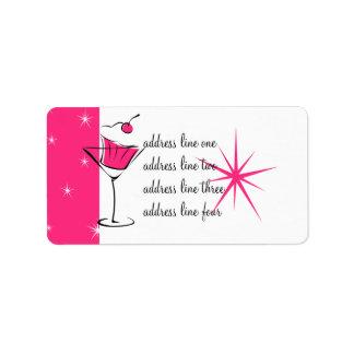Magdalenas y martinis etiquetas de dirección