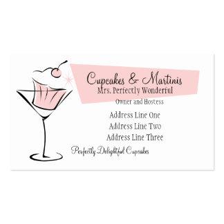 Magdalenas y martinis tarjetas de visita