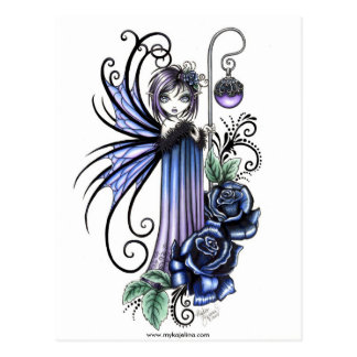 Magdalene Blue Rose Fairy Postcard