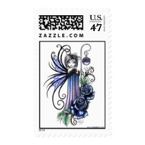 myka, jelina, magdalene, rose, blue, gothic, fairy, faerie, faery, fae, staff, magic, cute, violet, tattoo, fine art, Stamp with custom graphic design