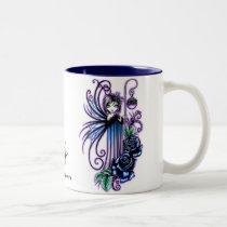 roses, blue, flowers, fairy, fae, faerie, faery, fairies, goddess, myka, jelina, mika, fantasy, art, photo, sculpture, faeries, Mug with custom graphic design
