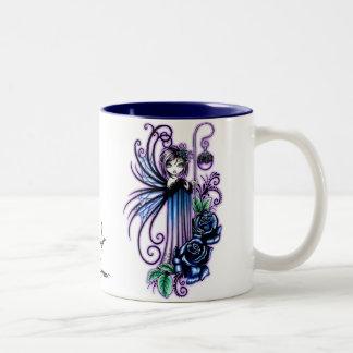 """""""Magdalene"""" Gothic Blue Rose Fairy Mug"""