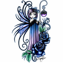 roses, blue, flowers, fairy, fae, faerie, faery, fairies, goddess, myka, jelina, mika, fantasy, art, photo, sculpture, faeries, Photo Sculpture with custom graphic design
