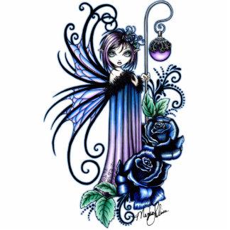 """Magdalene"" Gothic Blue Rose Fairy Photo Sculpture"