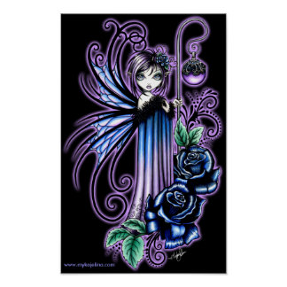 """""""Magdalene"""" Gothic Blue Rose Fairy Posters"""
