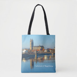 Magdeburg Cathedral with river Elbe 01.2.T Tote Bag