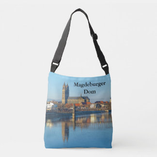 Magdeburg Cathedral with river Elbe 01.4.T Crossbody Bag