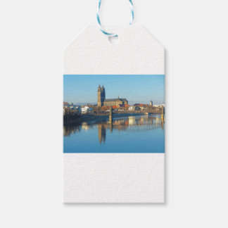 Magdeburg Cathedral with river Elbe 01 Gift Tags