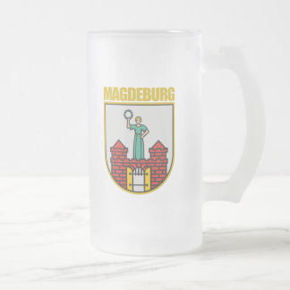 Magdeburg Frosted Glass Beer Mug