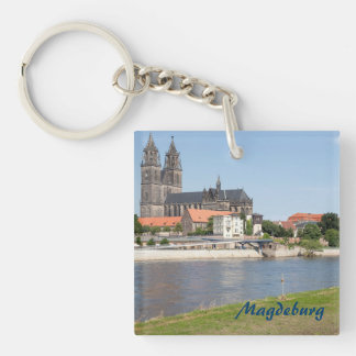 Magdeburg view photo keychain