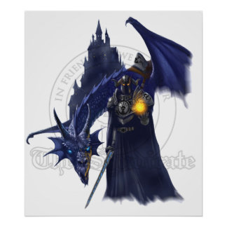 Mage Dragon With Watermark Poster
