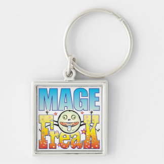 Mage Freaky Freak Silver-Colored Square Keychain
