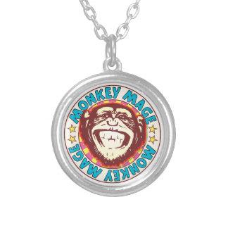 Mage Monkey Round Pendant Necklace