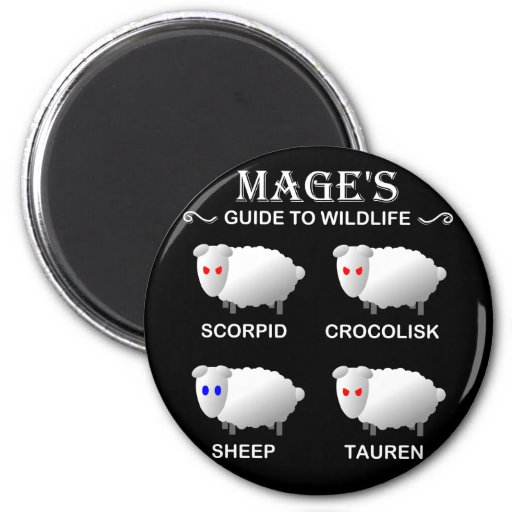 Mage Sheep Refrigerator Magnets