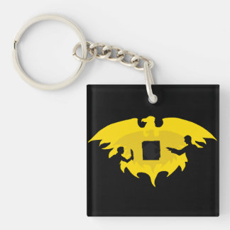 Mage, Thief, and Dayhawk Double-Sided Square Acrylic Keychain